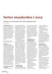 Setter standarden i 2012 – Utviklingen av norske ... - Fagforbundet