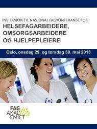 Invitasjon Nasjonal Fagkonferanse ... - Fagforbundet