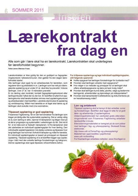 Frisøren sommer 2011 - Fagforbundet