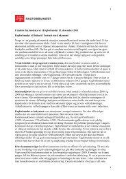 Uttalelse fra landsstyret i Fagforbundet 15. desember 2011 ...
