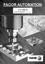 CNC 800 M - Fagor Automation
