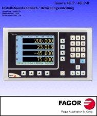 Innova 40i P DRO manual - Fagor Automation