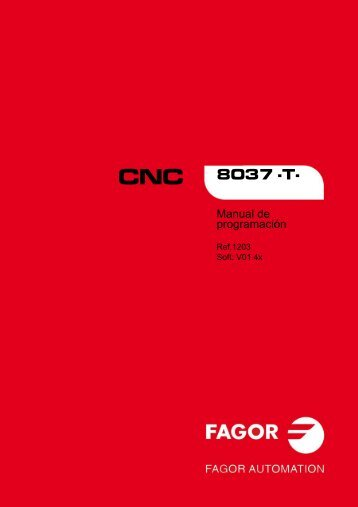 CNC 8037 T - Manual de programación - Fagor Automation