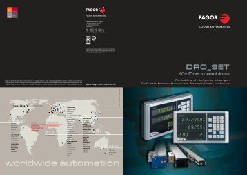 worldwide automation - Fagor Automation