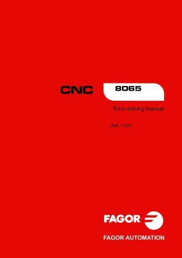 8065. Error solving manual. - Fagor Automation