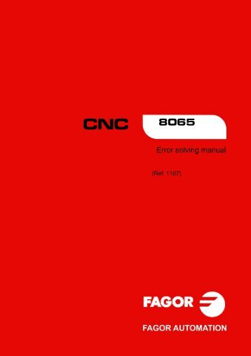 8065. Error solving manual. - Fagor Automation