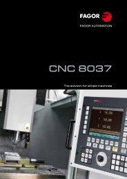 CNC 8037 - Fagor Automation