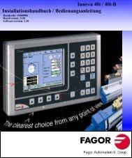 Innova 40i DRO manual - Fagor Automation