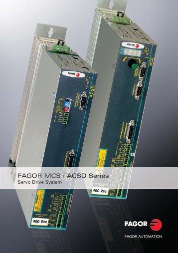 MCS / ACSD servo drive catalog - Fagor Automation