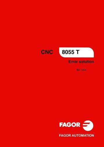 CNC 8055 - Error solution - Fagor Automation