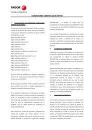 CONDICIONES GENERALES DE VENTA - Fagor Automation