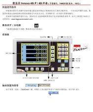 数显表Innova 40i P / 40i P-B ( 手册编号 ... - Fagor Automation