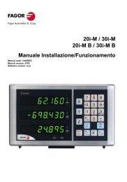 20i-M / 30i-M 20i-MB / 30i-MB Manuale ... - Fagor Automation