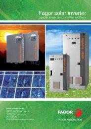 Fagor solar inverter - Fagor Automation