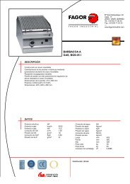 BARBACOA A GAS, BG9-05 I - Fagor Industrial