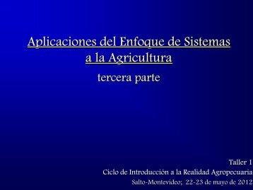 Aplicaciones del Enfoque de Sistemas a la Agricultura