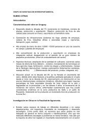 grupo de investigación interdepartamental - Facultad de Agronomía
