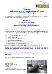 Einladung zum Informationsaustausch - europäischen Fachverband ...