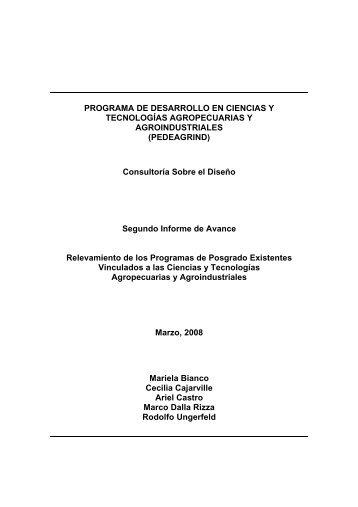 Segundo informe - Facultad de Agronomía