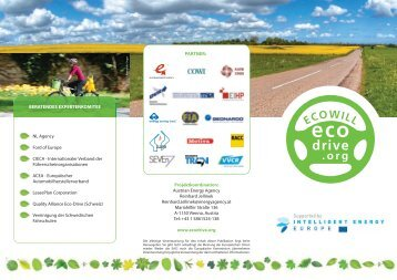 Projektkoordination: Austrian Energy Agency ... - Ecodrive.org