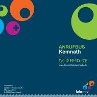 Anrufbus Kemnath - Fahrmit Tirschenreuth