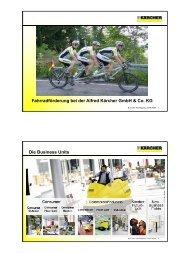 Fahrradförderung bei der Alfred Kärcher GmbH & Co. KG Die ...