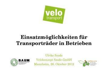 Einsatzmöglichkeiten für Transporträder in Betrieben - Machen Sie ...