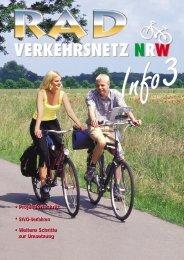 Radverkehrsnetz NRW, Info Nr. 3 - Arbeitsgemeinschaft ...