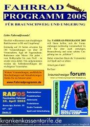 FAHRRAD PROGRAMM 2005 FÜR BRAUNSCHWEIG UND ...