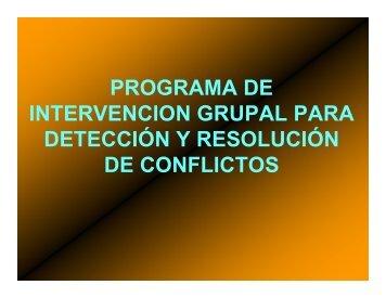 Intervención grupal para resolución de conflictos en médicos ...