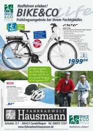 Download Flyer Angebote Frühjahr 2013 - Fahrradwelt Hausmann ...