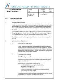 LAATUJÄRJESTELMÄ MENETTELYOHJE 4.2.9 Työssäoppiminen