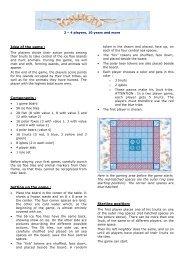 Idea of the game : Components : Setting up the ... - Bruno Faidutti
