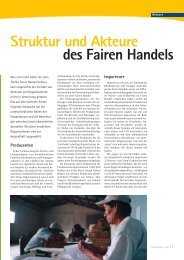 des Fairen Handels Struktur und Akteure - Fair feels good