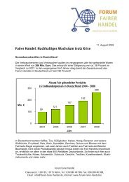Zahlen des Fairen Handels 2008 - Fair Trade