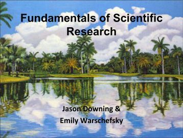 Scientific Inquiry: The scientific method of conducting experiments