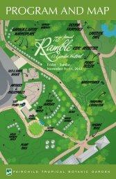 PROGRAM AND MAP - Fairchild Tropical Botanic Garden