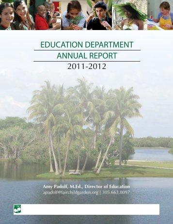 education department annual report - Fairchild Tropical Botanic ...