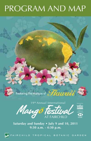 Download a pdf of the Mango Festival program. - Fairchild Tropical ...