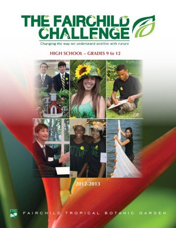2012-2013 Booklet - Fairchild Tropical Botanic Garden
