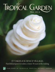 Fall 2012 - Fairchild Tropical Botanic Garden