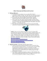 Other Homework Exercises for Students