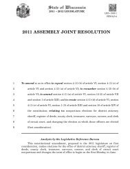 2011 ASSEMBLY JOINT RESOLUTION - Fair Elections Wisconsin