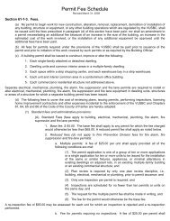Permit Fee Schedule - Fairfax County Government