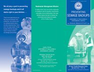 Preventing Sewage Backups - Fairfax County Government