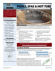 Pools, Spas & Hot Tubs - Fairfax County Government