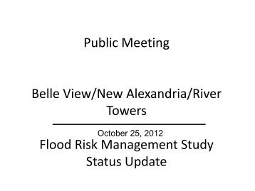 Flood Risk Management Study Status Update for Belle View/New ...