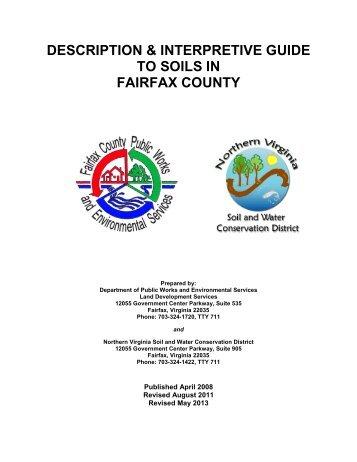 Description & Interpretive Guide to Soils in Fairfax County