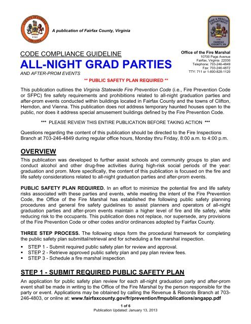 All-Night Graduation Party & After-Prom Event Fire Safety