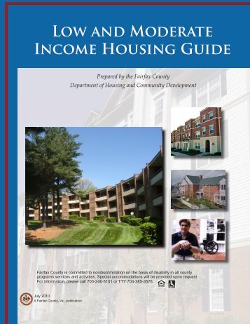LOw ANd MOdERAtE INcOME HOUSiNG GUidE - Fairfax County ...
